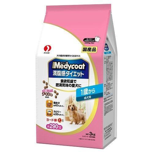 メディコート 満腹感ダイエット 1歳から 成犬用 3kg|aquabase