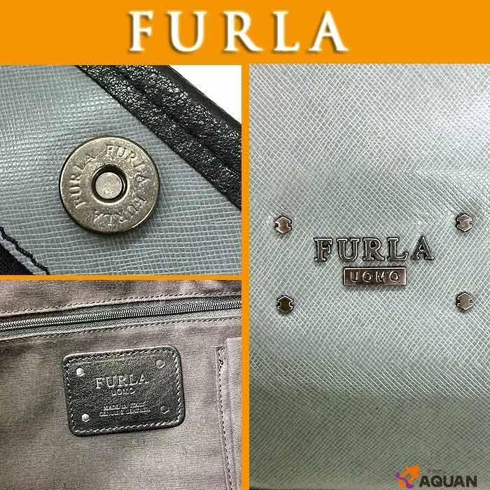 38e056a5c6ce FURLA フルラ トートバッグ FURLA UOMO COLLECTION レザー グレー メンズ ...