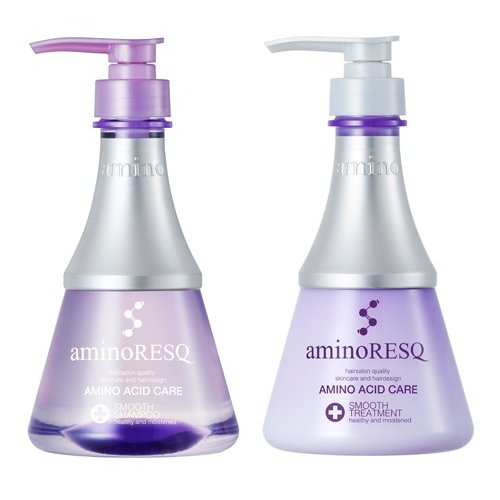 アミノレスキュースムース/シャンプートリートメントセット【アミノレスキュー(aminoRESQ)】スムース 8種のアミノ酸配合 アミノ酸シャンプー アミノ酸|aquanoa