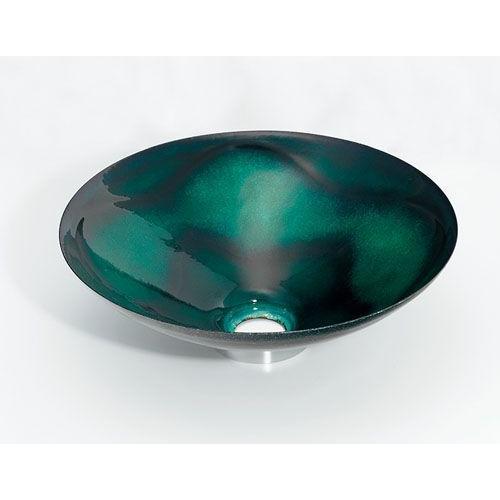 カクダイ 絢 あやね 丸型手洗器 緑透(りょくすけ) 493-047-GR