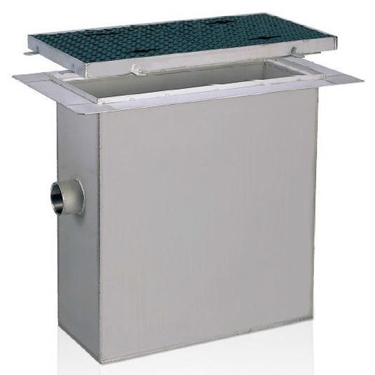前澤化成工業 SUS製グリーストラップ パイプ流入床吊型(容量100L) GTS-100PD