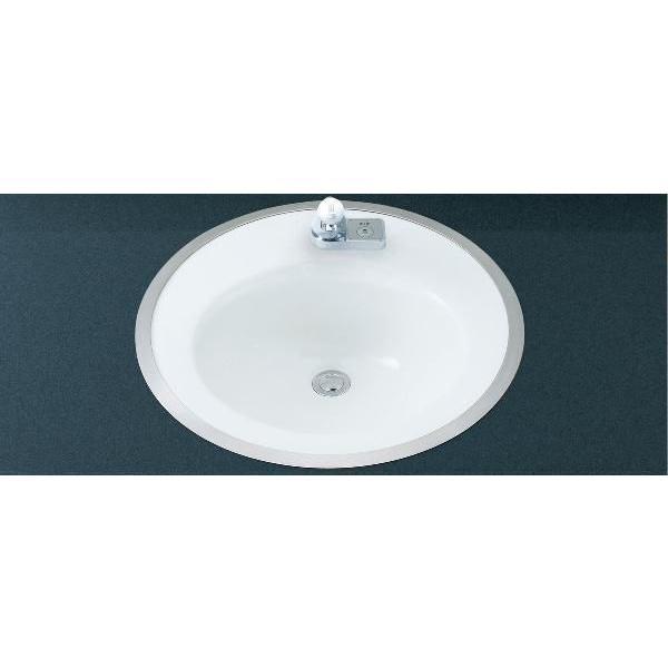 LIXIL INAX はめ込み円形洗面器(フレーム式)手動スイッチ付自動水栓セット L-2584FC + AM-201V1