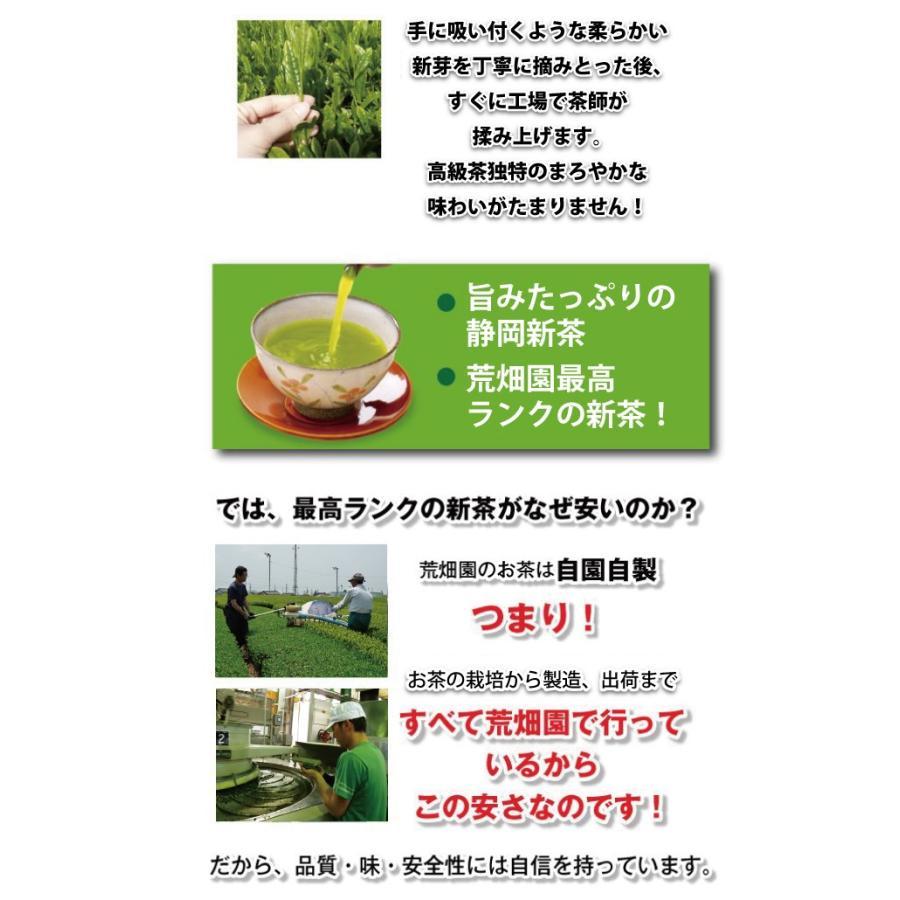 お茶 緑茶 静岡茶 カテキン 新茶 2021 初摘旬 100g 2袋に1袋おまけ 送料無料|arahata|03
