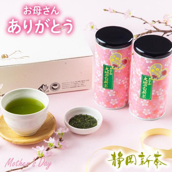 母の日 2021 お茶 新茶 ギフト プレゼント 緑茶 母の日2本箱入り 送料無料|arahata