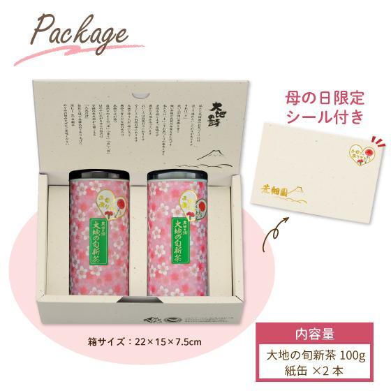 母の日 2021 お茶 新茶 ギフト プレゼント 緑茶 母の日2本箱入り 送料無料|arahata|05