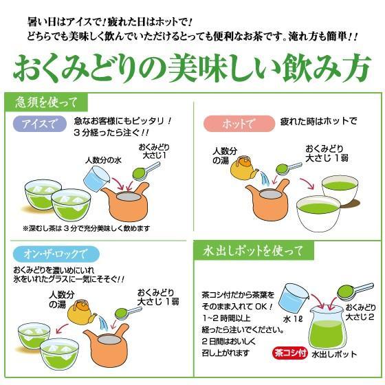 お茶 緑茶 茶葉 プレゼント ギフト 水出し緑茶 静岡茶 カテキン おくみどり2袋箱入 送料無料 arahata 06