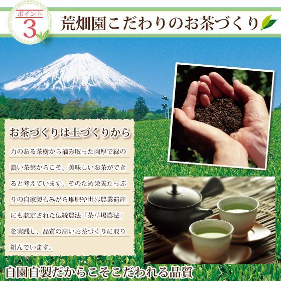 お茶 緑茶 茶葉 プレゼント ギフト 静岡茶 カテキン 高級 極上・初摘・大地の旬3袋箱入 送料無料|arahata|12