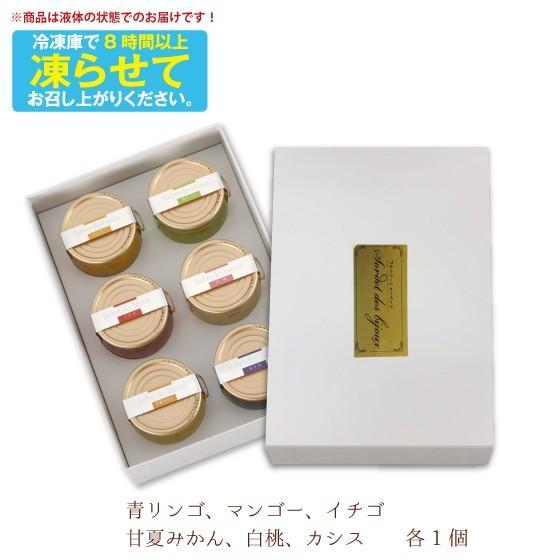 敬老の日 2021 ギフト プレゼント シャーベット アイス フルーツシャーベット 6ヶ入り 送料無料 ■15036|arahata|14