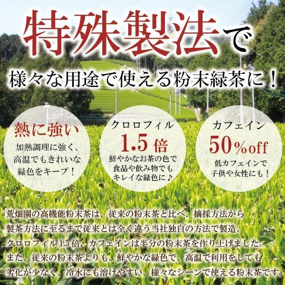 お茶 粉末茶 緑茶 静岡茶 カテキン お茶屋が作った静岡の粉末緑茶 100g×2袋セット 送料無料 セール|arahata|07