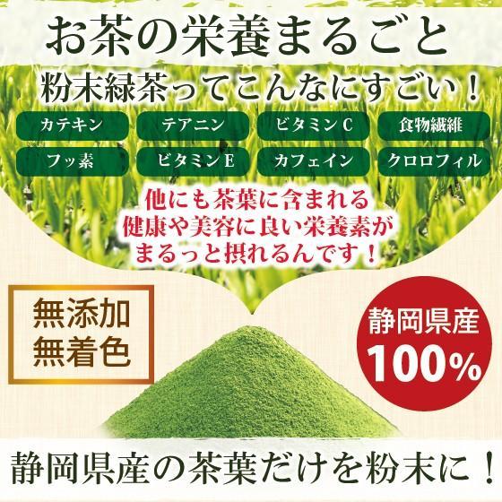お茶 粉末茶 緑茶 静岡茶 カテキン お茶屋が作った静岡の粉末緑茶 100g×2袋セット 送料無料 セール|arahata|04