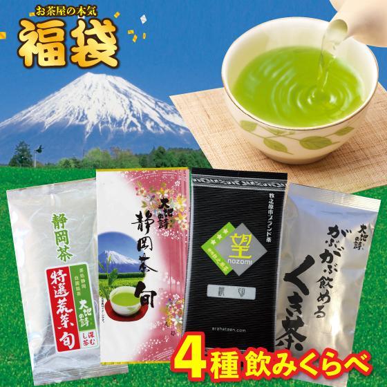 お茶 お試し 緑茶 静岡茶 カテキン 福袋 2021 深蒸し茶 大入り茶葉セット 送料無料 arahata