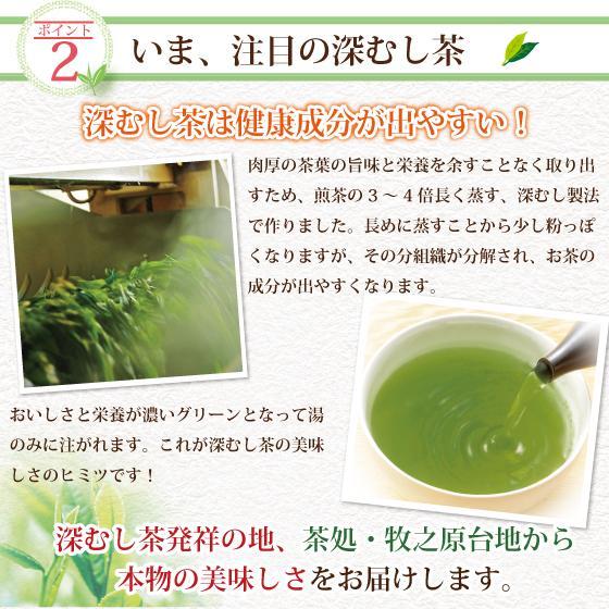 お茶 緑茶 茶葉 プレゼント ギフト 水出し緑茶 静岡茶 カテキン おくみどり望金印3袋箱入 送料無料|arahata|14