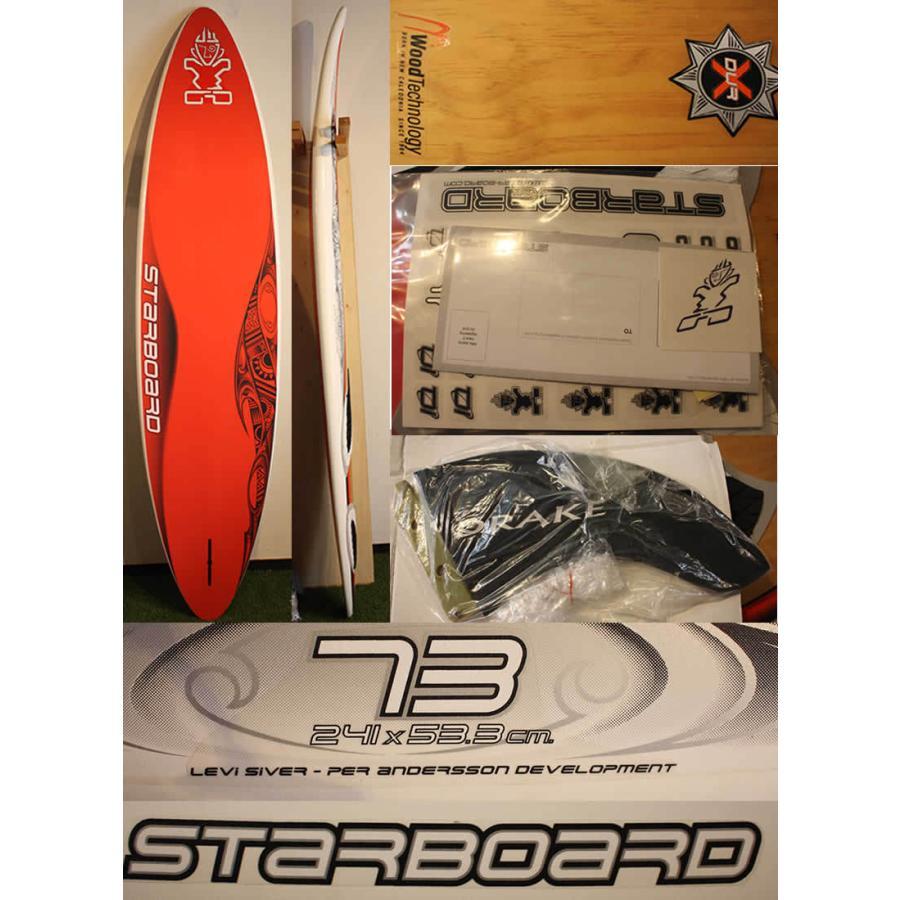 【新品】STARBOARD(スターボード) 2010 WINDSURF 73 241cm [WHITE/WOOD/RED] FIN付き arasoan 03