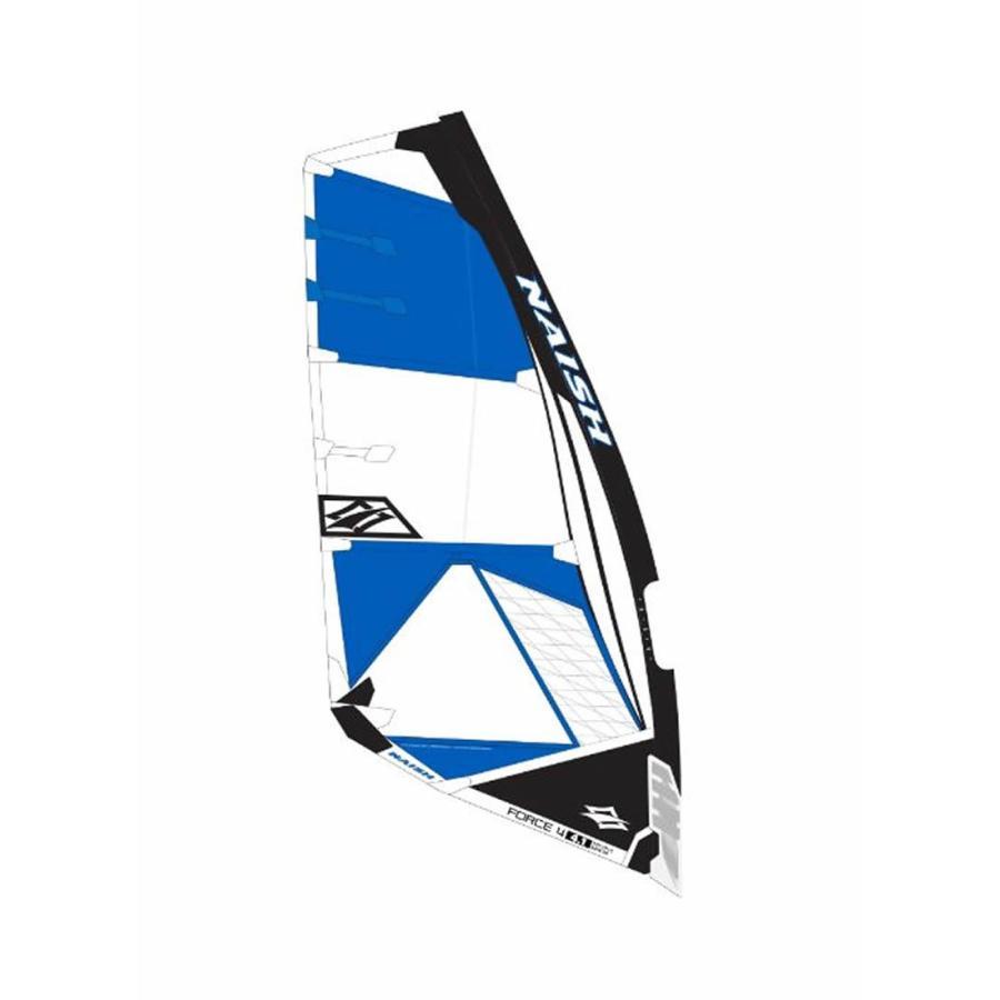 【メーカーお取り寄せ】NAISH(ナッシュ)2019 SAIL FORCE FOUR モデル [青×白い]4.5 セイル ウインドサーフィン