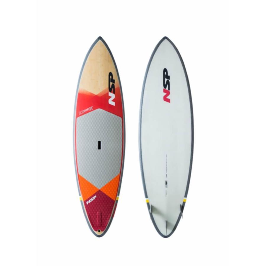 超格安一点 【メーカーお取り寄せ X】NSP (エヌエスピー) DC SURF X フィン付 2019モデル [RED×WHITE]8'2