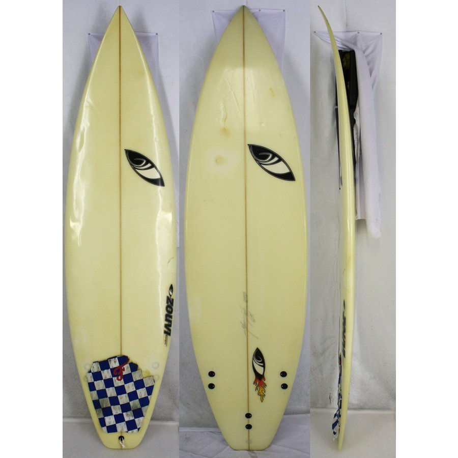 【中古】Sharpeye Surfboards (シャープアイサーフボード)Shape by Marcio Zouvi サーフボード [clear] 6'0