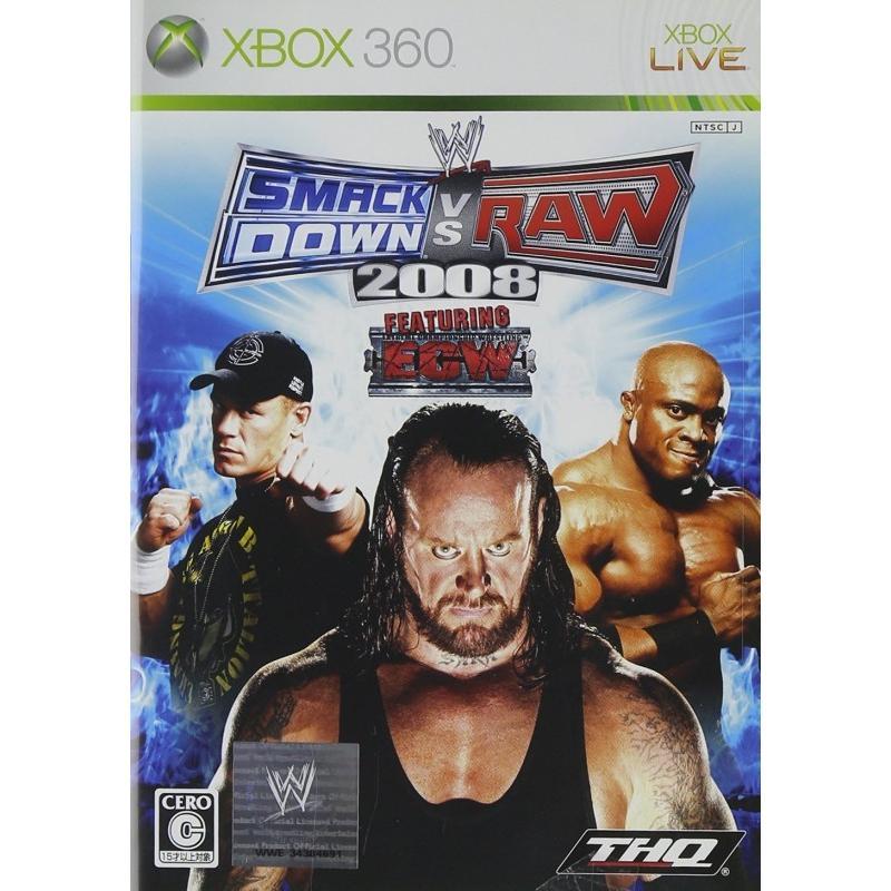 【留意商品】X360 WWE2008 スマックダウンvsロウ
