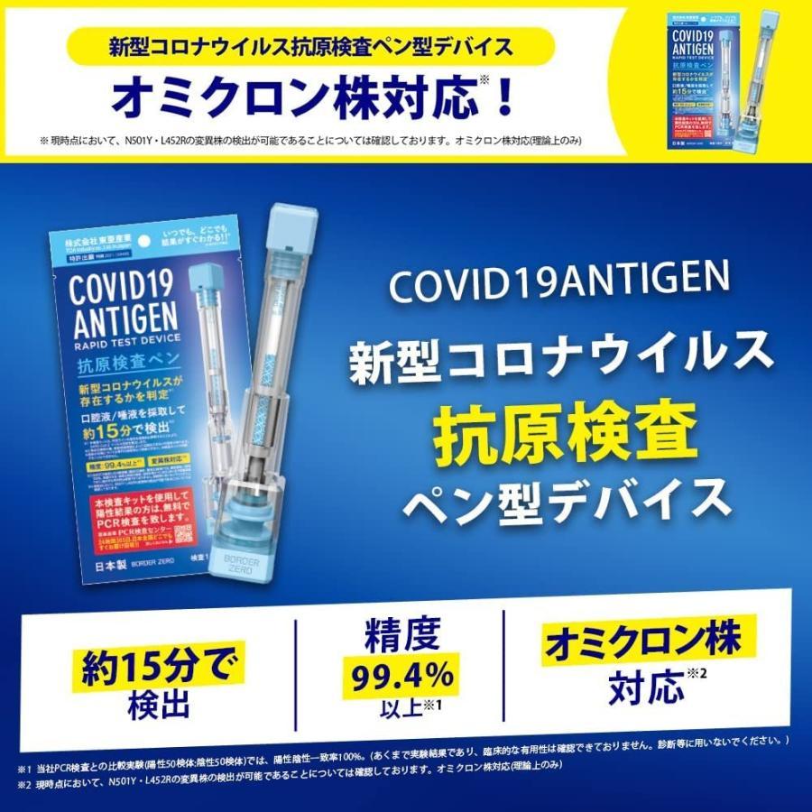 正規品  新型コロナウイルス抗原検査ペン型デバイス 抗原検査キット 1回分 精度99.4%以上 変異株対応 東亜産業 日本製 抗体・PCR|arcanice-shop|02