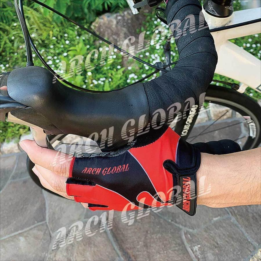 サイクリンググローブ 自転車 手袋 サイクルグローブ 夏 立体 3D 衝撃吸収 通気性 シリコン 滑り止め付き メンズ レディース ロードバイク 春 秋|arch-global|10