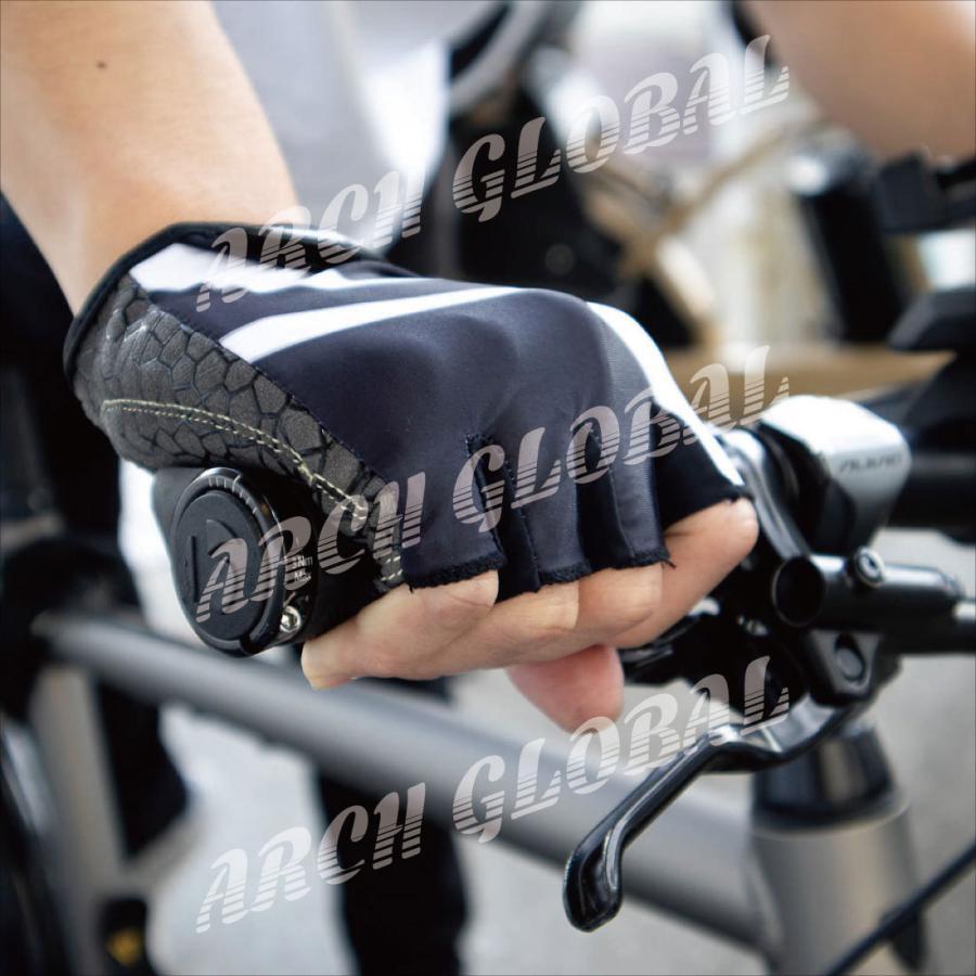 サイクリンググローブ 自転車 手袋 サイクルグローブ 夏 立体 3D 衝撃吸収 通気性 シリコン 滑り止め付き メンズ レディース ロードバイク 春 秋|arch-global|09