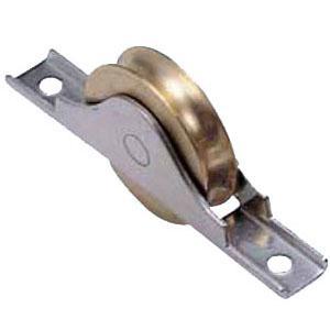 ヨコヅナ 440Cベアリング入真鍮戸車 ステンレス枠(60mm・丸型)(1箱・4個) BYS-0601