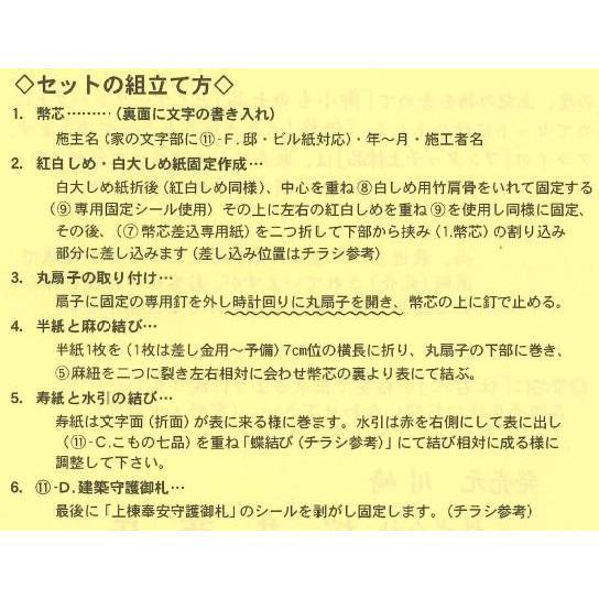 高級上棟セット 上棟品セット スタンダード 桜井 S|arde|02
