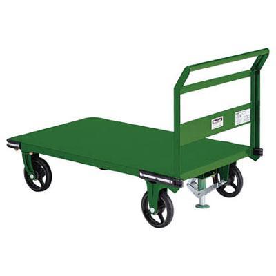 トラスコ 鋼鉄製運搬車(固定ハンドル・ストッパー付)1200×750mm【代引不可・メーカー直送品】 OHN-1S