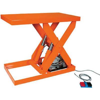 トラスコ テーブルリフト(油圧ユニットタイプ)1000kg/幅600×長さ1500×高さ155〜1205mm【代引不可・メーカー直送品】 HDL-100-0615