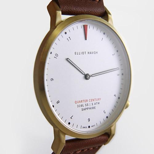 Quarter Century Watch QCW クオーターセンチュリーウォッチ 腕時計 QCW WATCH GOLD STEEL BLACK日本公式店舗|area-online|06