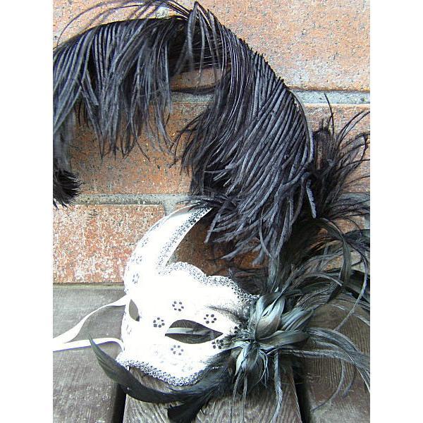 仮面 コスプレ ベネチアンマスク フェザー215 変装 仮装 仮面舞踏会 マスク (ハロウィン アイマスク )