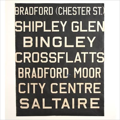 ヴィンテージ バスサイン BRADFORD '60 27259 Vintage Vintage bus sign バス イギリス ロンドン 87cm×H112cm