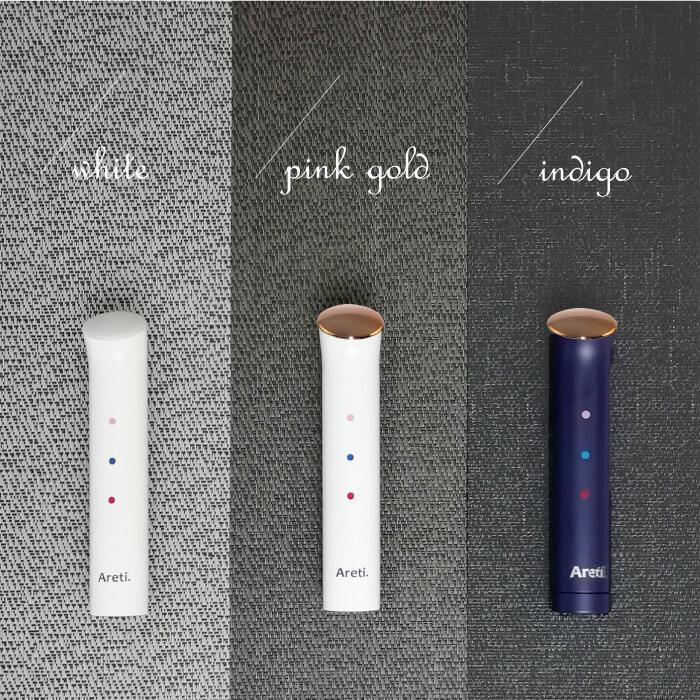 Areti アレティ 東京発メーカー 最大3年保証 ポーチに入る 美顔器 美肌 3色LED ハンディ 軽量 電池式 b1708WH|areti|14