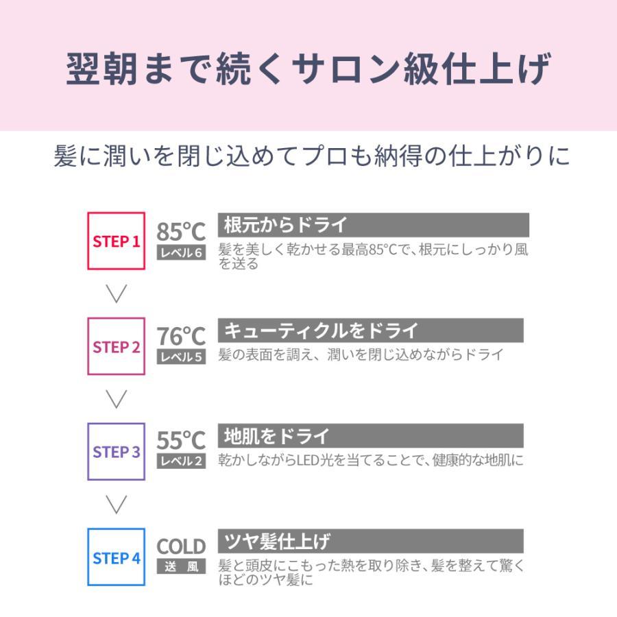 Areti アレティ 東京発メーカー 最大3年保証 ハンズフリー 高密度マイナスイオン ドライヤー モイスト ケア 3色LED 30通りの風 折りたたみ d1621PK|areti|12