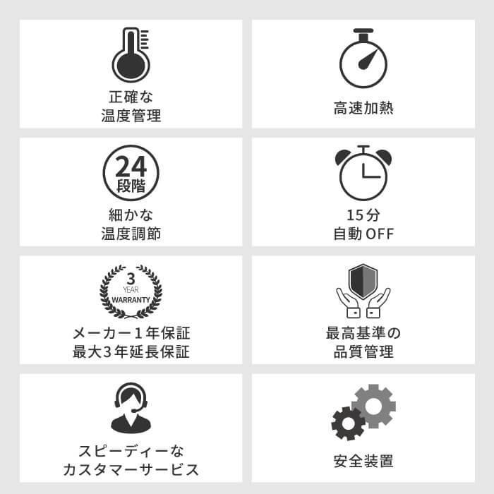 Areti アレティ 東京発メーカー 最大3年保証 20mmマイナスイオン 2way ヘアアイロン コテ ストレート & カール チタニウムコーティング i679BK|areti|04