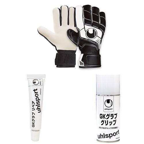 uhlsport(ウールシュポルト) キーパーグローブ ファングマシーネ ソフト ハーフネガティブ 1000140 ブラック×ホワイト02