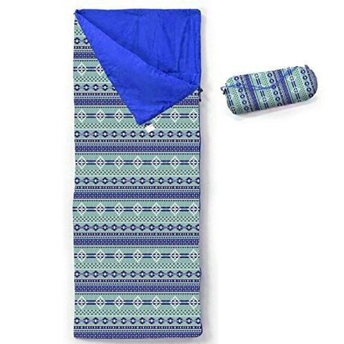 NATIVE シュラフ 寝袋 ブルー (ブランケット アウトドア ピクニック レジャーシート)