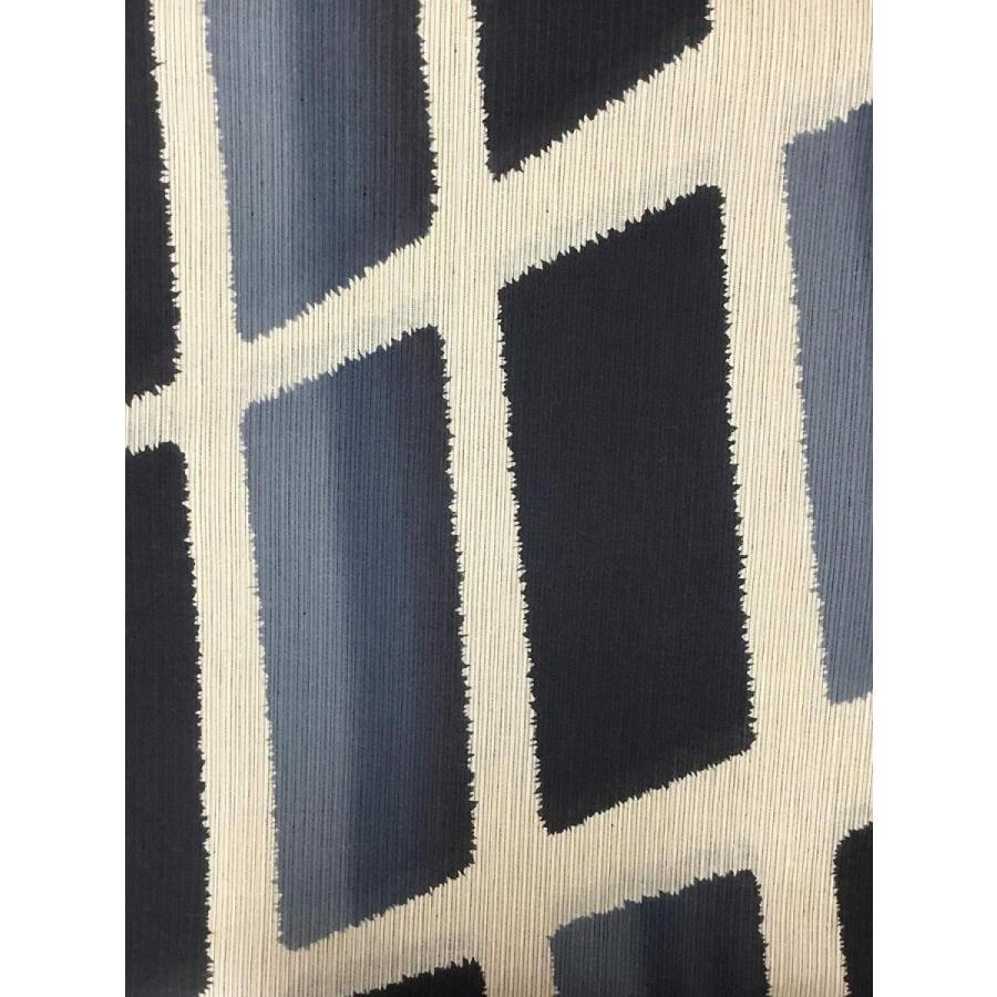 東京都伝統工芸品注染ゆかた -優華壇- 黒/灰 斜め格子 綿麻 日本製 浴衣 反物 未仕立て
