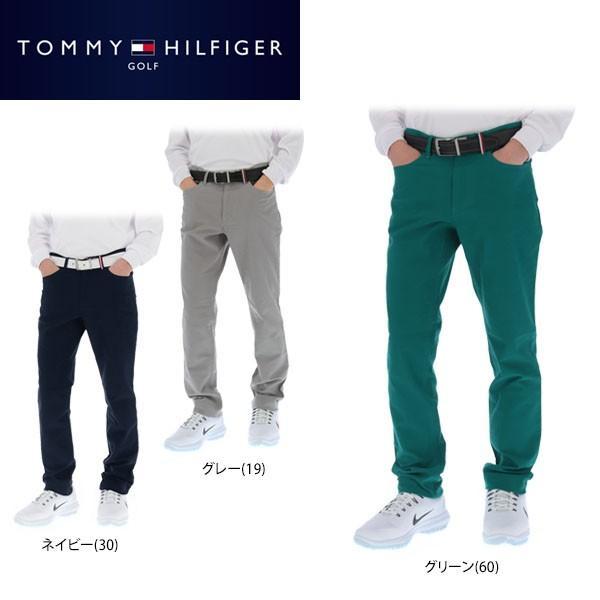 トミー ヒルフィガー ゴルフ メンズ ストレートロングパンツ THMA879 ゴルフウェア [2018年秋冬モデル 30%OFF] [裾上げ対応1●] [有賀園ゴルフ]