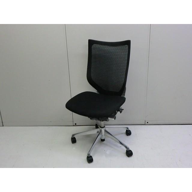 OAチェア肘無 OAチェア肘無 OAチェア肘無 オカムラ バロン サイズ:幅500×奥行700×高さ1050mm 色:ブラック b84