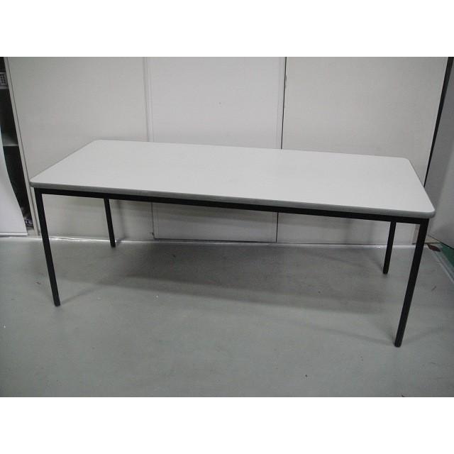 会議テーブル 会議テーブル プラス ニューグレー サイズ:幅1800×奥行750×高さ700mm 色:ニューグレー