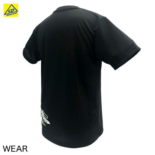 ブラックナイト ユニTシャツ T-1121 BLA バドミントン専門店会オリジナルTシャツ|arimotospshop|02