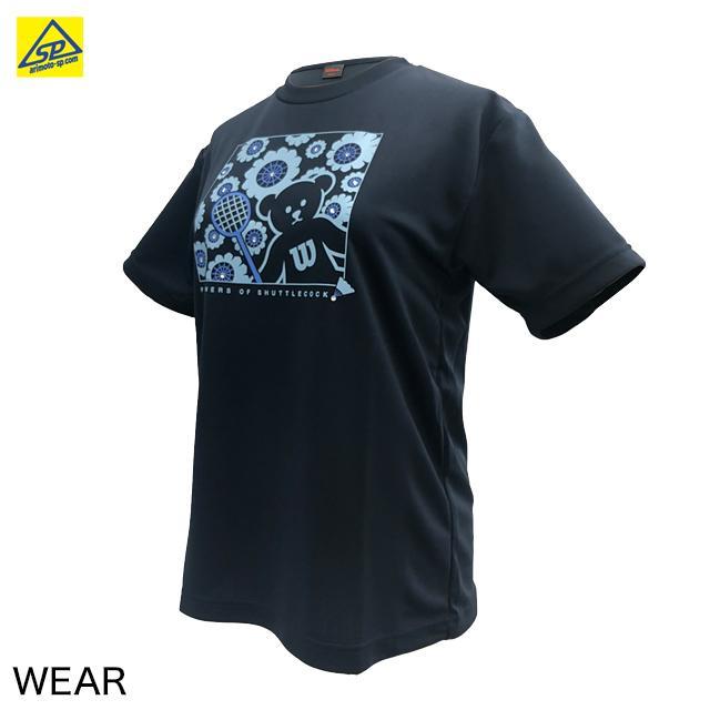 ウィルソン ベアーTシャツ WRBJ214NY BEAR-Series B  バドミントン専門店会 ラインストーン|arimotospshop