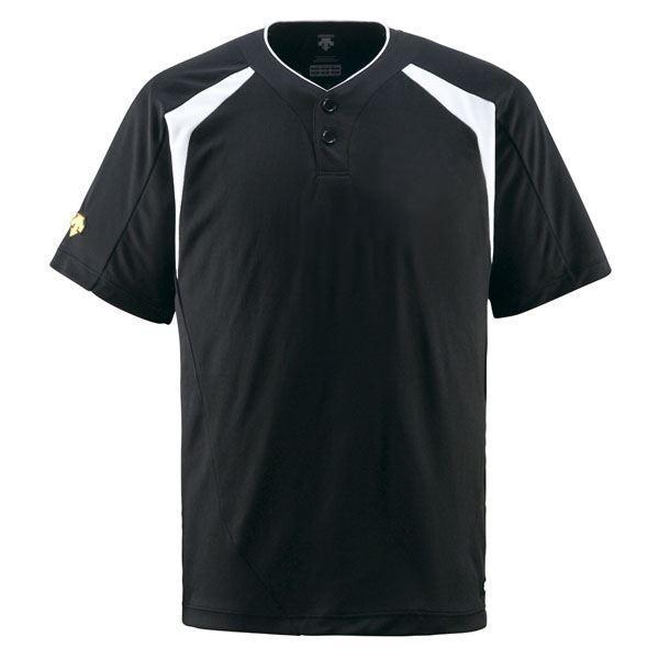 野球用品   デサント(DESCENTE) ベースボールシャツ(2ボタン) (野球) DB205 ブラック XA