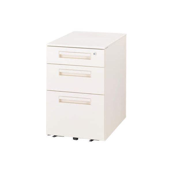 オフィス家具 | デスク収納 サイドワゴン サイドワゴン VD043AW ホワイト