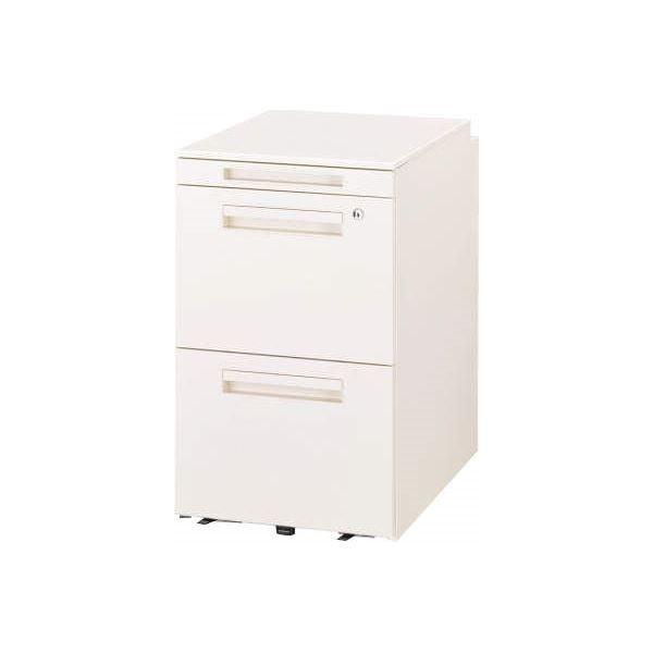 オフィス家具 | デスク収納 サイドワゴン 3段 VD042AHW ホワイト ホワイト