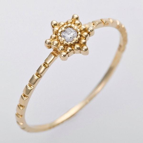 春夏新作モデル ダイヤモンド | ダイヤモンド リング K10イエローゴールド 9号 ダイヤ0.03ct アンティーク調 星 スターモチーフ, 生まれのブランドで 6a94c62d
