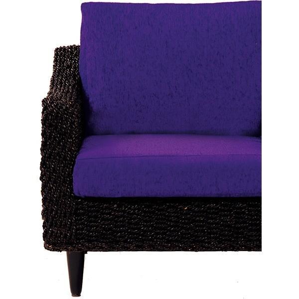 クッション   (本体別売)クッションカバー 3人掛け用 グランツシリーズ パープル(紫)