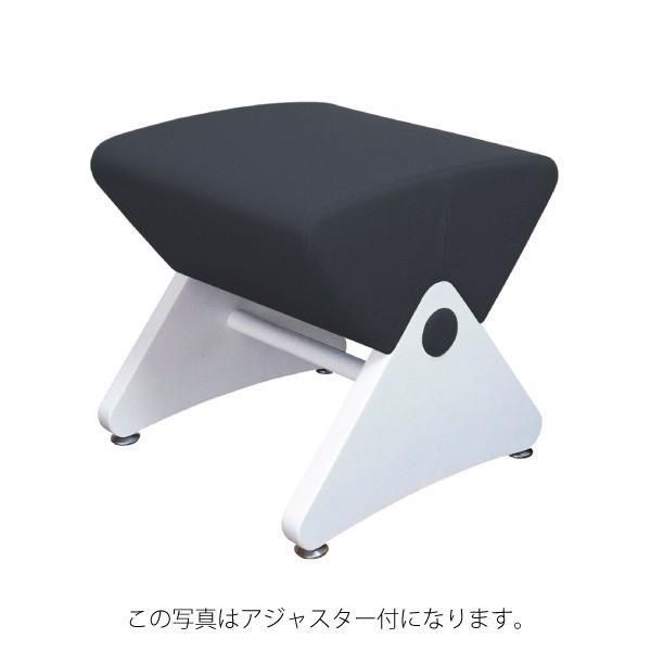 椅子   デザイナーズスツール キャスター付き ホワイト(布:ネイビーエラストマー)(Mona.Dee)モナディー WAS01SC