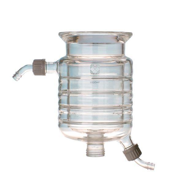 (柴田科学)セパラブルフラスコ 円筒ジャケット形 バンド式(SCHOTTタイプ) 150mm 3L 0055503001