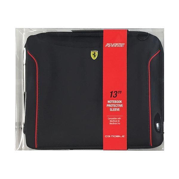 オフィス家具 | FERRARI 公式ライセンス品 FIORANO 黒 PU Leather Computer Sleeve Sleeve 13インチノートパソコン等 FEDA2ICS13BL
